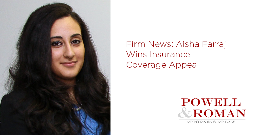 Aisha Farraj Wins Insurance Coverage Appeal: Appellate Court Finds Policy Unambiguous